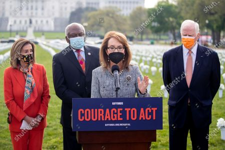 Editorial image of Former Congresswoman Gabby Giffords hosts a press conference at the Gun Violence Memorial on the National Mall, Washington, USA - 14 Apr 2021