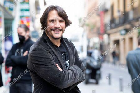 Stock Picture of Actor Sergio Peris-Mencheta poses during the presentation of ''Castelvines y Monteses''