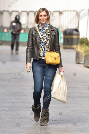 Jenni Falconer is seen departing the Global Radio Studios.