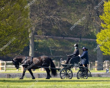 Lady Louise Windsor heads out for a ride at Windsor