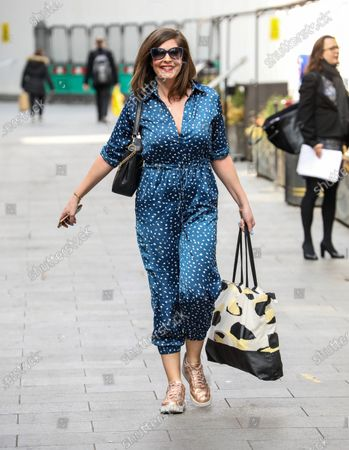 Lucy Horobin seen departing from the Global Radio Studios in London.