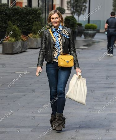 Jenni Falconer seen departing from her Smooth FM show at the Global Radio Studios in London.