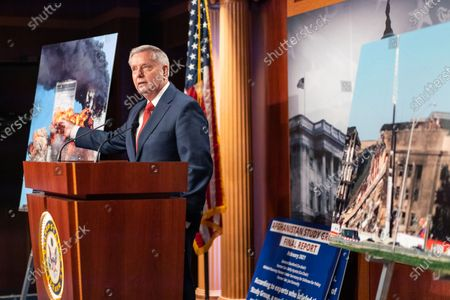 Sen. Lindsey Graham (R-SC) speaks during a news conference in response to President Joe Biden's decision to pull all American troops out of Afghanistan by Sept. 11, 2021, on Capitol Hill on Wednesday, April 14, 2021 in Washington, DC. (Kent Nishimura / Los Angeles Times)