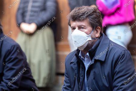 Editorial picture of Dario Franceschini at Globe Theater occupied, Rome, Italy - 14 Apr 2021