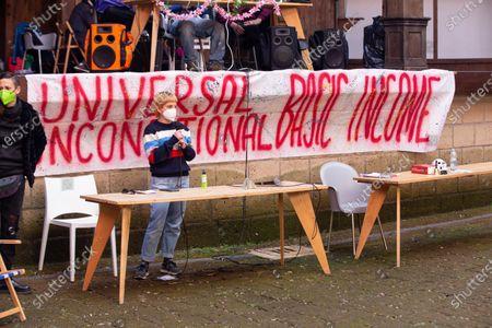 Editorial photo of Dario Franceschini at Globe Theater occupied, Rome, Italy - 14 Apr 2021