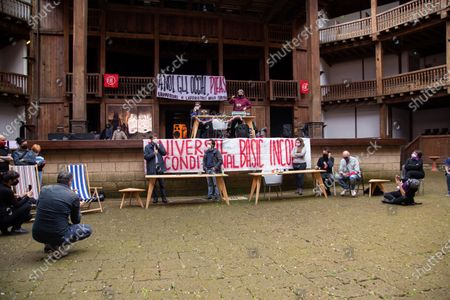 The Minister of Culture Dario Franceschini spoke at a public assembly organized by the entertainment workers who occupied the Globe Theater in Rome this morning