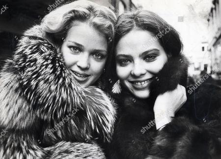 Actresses Melody Anderson & Ornella Muti
