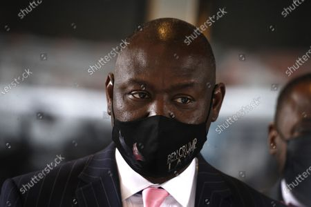 Attorney Ben Crump who represents the family of Daunte Wright seen at a press conference in Midtown Manhattan during the National Action Network convention.  In attendance are the mothers of men killed by police. Lesley McSpadden, mother of Michael Brown, Gwen Carr, mother of Eric Garner, Sybrina Fulton, mother of Trayvon Martin and Sequette Clark, mother of Stephon Clark.