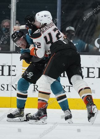 Editorial image of Ducks Sharks Hockey, San Jose, United States - 14 Apr 2021