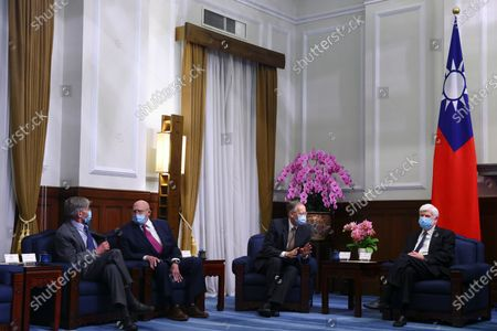 Editorial photo of Former US diplomats visit Taiwan to hold talks with President Tsai Ing-wen, Taipei - 15 Apr 2021