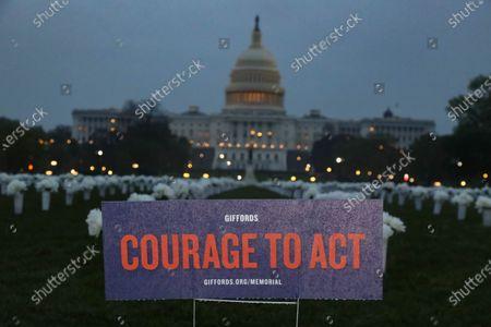 Editorial image of Gun Violence Memorial on National Mall, Washington DC, USA - 14 Apr 2021