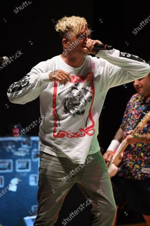 Editorial photo of New Found Glory in concert, Old School Square Pavilion, Delray Beach, Florida, USA - 14 Apr 2021