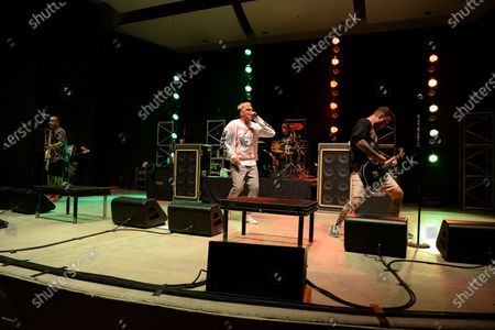 Editorial image of New Found Glory in concert, Old School Square Pavilion, Delray Beach, Florida, USA - 14 Apr 2021