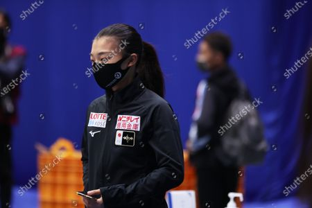 Kaori Sakamoto (JPN) - Figure Skating :  ISU World Team Trophy in Figure Skating 2021  Women's Practice  at Maruzen Intec Arena Osaka, Osaka, Japan.