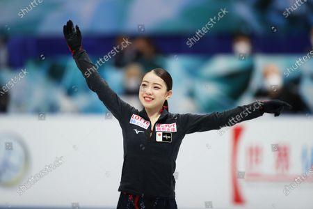 Rika Kihira (JPN) - Figure Skating :  ISU World Team Trophy in Figure Skating 2021  Women's Short Program  at Maruzen Intec Arena Osaka, Osaka, Japan.
