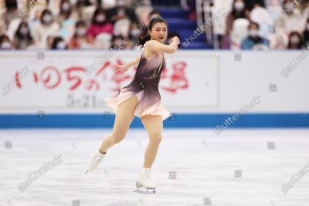 Kaori Sakamoto (JPN) - Figure Skating :  ISU World Team Trophy in Figure Skating 2021  Women's Short Program  at Maruzen Intec Arena Osaka, Osaka, Japan.
