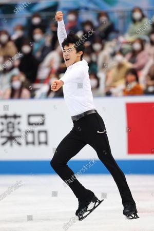 Nathan Chen (USA) - Figure Skating :  ISU World Team Trophy in Figure Skating 2021  Men's Short Program  at Maruzen Intec Arena Osaka, Osaka, Japan.