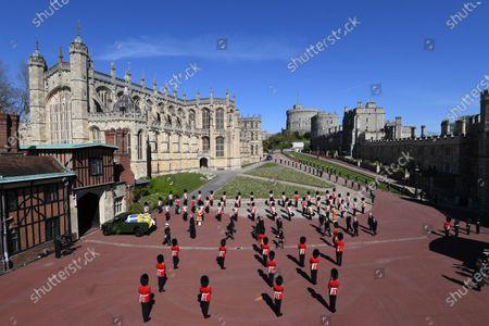 Procession, funeral of Prince Philip, Duke of Edinburgh, Windsor Castle