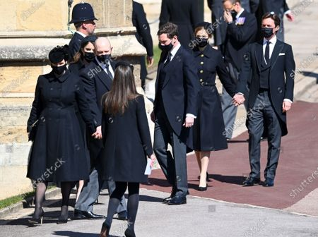 Zara Phillips, Mike Tindall, Princess Beatrice and Edoardo Mapelli Mozzi