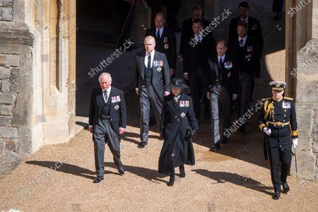 Editorial picture of The funeral of Prince Philip, Duke of Edinburgh, Cannonade, Windsor Castle, Berkshire, UK - 17 Apr 2021