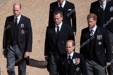 Editorial photo of The funeral of Prince Philip, Duke of Edinburgh, Cannonade, Windsor Castle, Berkshire, UK - 17 Apr 2021