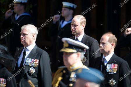 Prince Andrew, Prince William and Prince Edward
