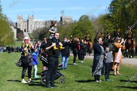 Atmosphere, funeral of Prince Philip, Duke of Edinburgh, Windsor