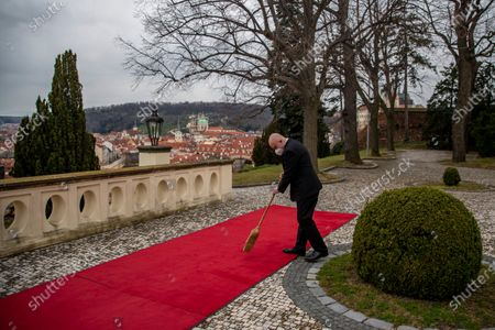 Editorial picture of Slovak Prime Minister Eduard Heger visits Czech Republic, Prague - 15 Apr 2021