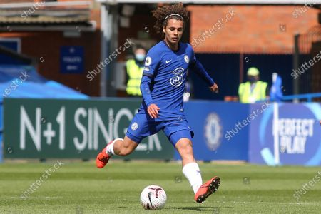 Charlie Webster of Chelsea in action during Chelsea Under-18 vs Everton Under-18, FA Youth Cup Football at Kingsmeadow on 15th April 2021