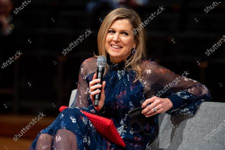 Queen Maxima visits the International Theater, Amsterdam