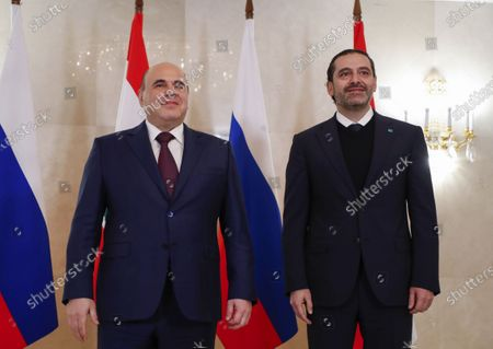 Editorial photo of Lebanon's Prime Minister Saad Hariri visits Moscow, Russian Federation - 15 Apr 2021