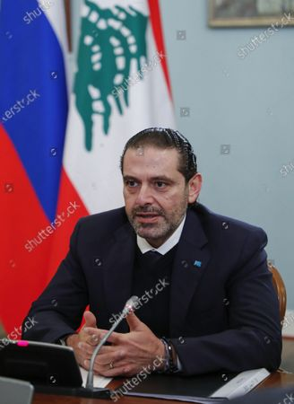 Editorial picture of Lebanon's Prime Minister Saad Hariri visits Moscow, Russian Federation - 15 Apr 2021