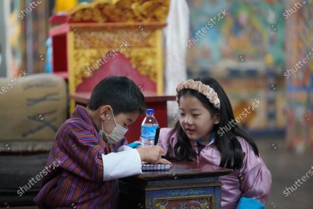 His Royal Highness The Gyalsey with Her Serene Highness Decho Pema Wangchuck, at Dramitse