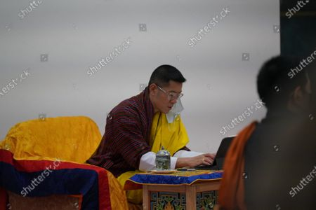 During a meeting with the Pemagatshel Dzongkhag COVID-19 Task Force.