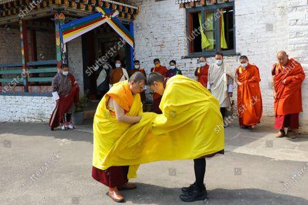 Editorial photo of King Jigme Khesar Namgyel Wangchuck and Queen Jetsun Pema, Mongar Dzong, Bhutan - 15 Apr 2021