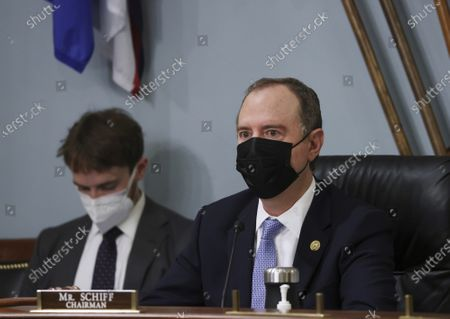 Chairman Adam Schiff, D-Calif., listens during a House Intelligence Committee hearing on Capitol Hill in Washington