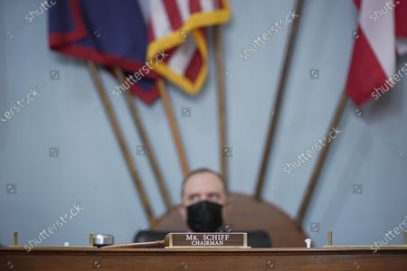 Stock Image of Rep. Adam Schiff, D-Calif., listens during a House Intelligence Committee hearing on Capitol Hill in Washington