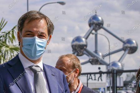 Editorial picture of Alexander De Croo visits vaccination village setup, Brussels, Belgium - 15 Apr 2021