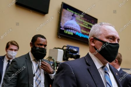 Rep. Steve Scalise, R-La., (R) leaves after a hearing of the House Select Subcommittee on the Coronavirus Crisis at the U.S. Capitol in Washington DC, on Thursday, April 15, 2021.