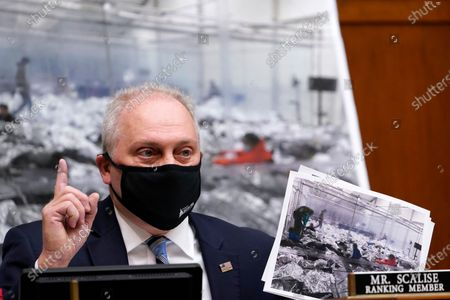 House Minority Whip Steve Scalise, R-La., talks about the border during a House Select Subcommittee hearing on Capitol Hill in Washington, on the coronavirus crisis