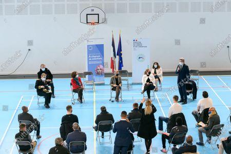 Eric Jalon, Emmanuelle Wargon, Elisabeth Borne, Nadia Hai and Olivier Salleron