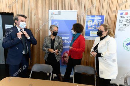 De g a d Olivier Salleron, Elisabeth Borne, Emmanuelle Wargon and Nadia Hai