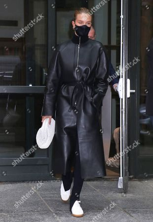Stock Picture of Rosie Huntington-Whiteley seen leaving the Crosby Street Hotel