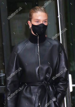Stock Photo of Rosie Huntington-Whiteley seen leaving the Crosby Street Hotel