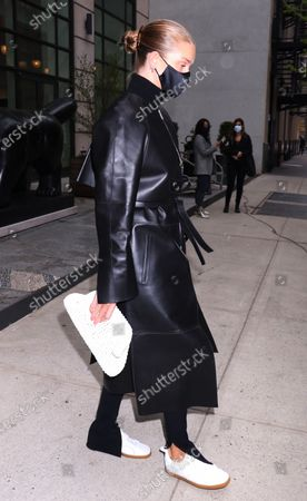 Rosie Huntington-Whiteley seen leaving the Crosby Street Hotel