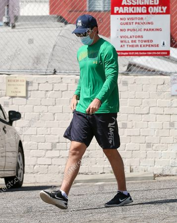 Editorial photo of Miles Teller out and about, Los Angeles, California, USA - 15 Apr 2021