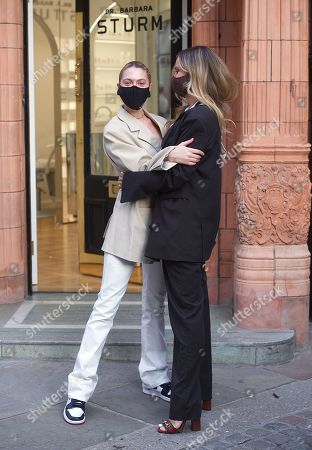 Editorial photo of Heloise Agostinelli and Sophie Hermann out and about, London, UK - 15 Apr 2021