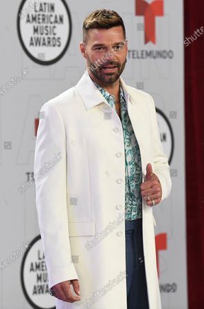 Ricky Martin arrives at the Latin American Music Awards at the BB&T Center, in Sunrise, Fla