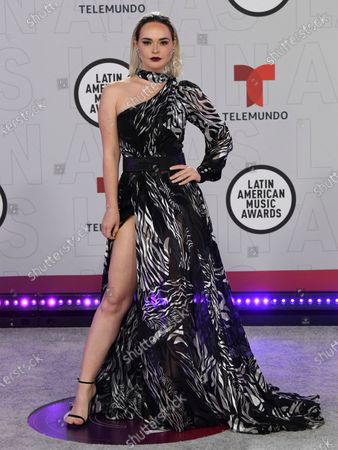 Fabiola Guajardo arrives at the Latin American Music Awards at the BB&T Center, in Sunrise, Fla