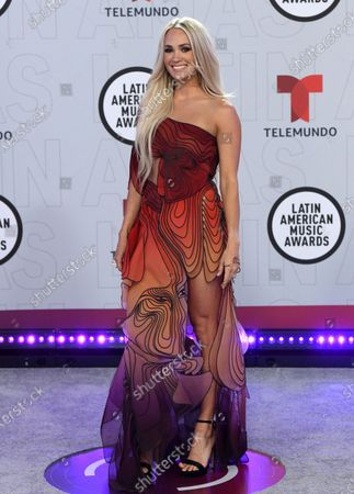 Stock Picture of Carrie Underwood arrives at the Latin American Music Awards at the BB&T Center, in Sunrise, Fla